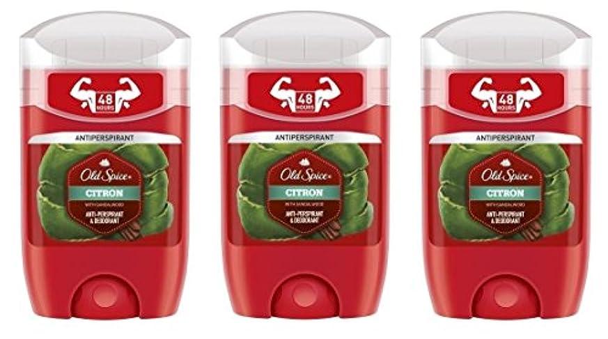 系統的人口矢(Pack of 3) Old Spice Citron with Sandalwood Antiperspirant Deodorant Solid Stick for Men 3x50ml - (3パック) オールドスパイスシトロンサンダルウッド制汗剤デオドラントソリッドスティック男性用3x50ml