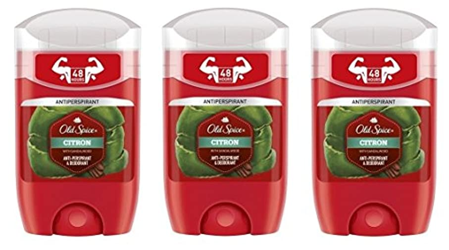 人気のスポーツをするバレーボール(Pack of 3) Old Spice Citron with Sandalwood Antiperspirant Deodorant Solid Stick for Men 3x50ml - (3パック) オールドスパイスシトロンサンダルウッド...