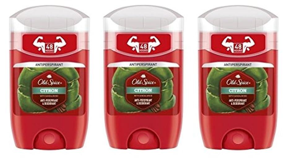 ゆりかご羨望週間(Pack of 3) Old Spice Citron with Sandalwood Antiperspirant Deodorant Solid Stick for Men 3x50ml - (3パック) オールドスパイスシトロンサンダルウッド...