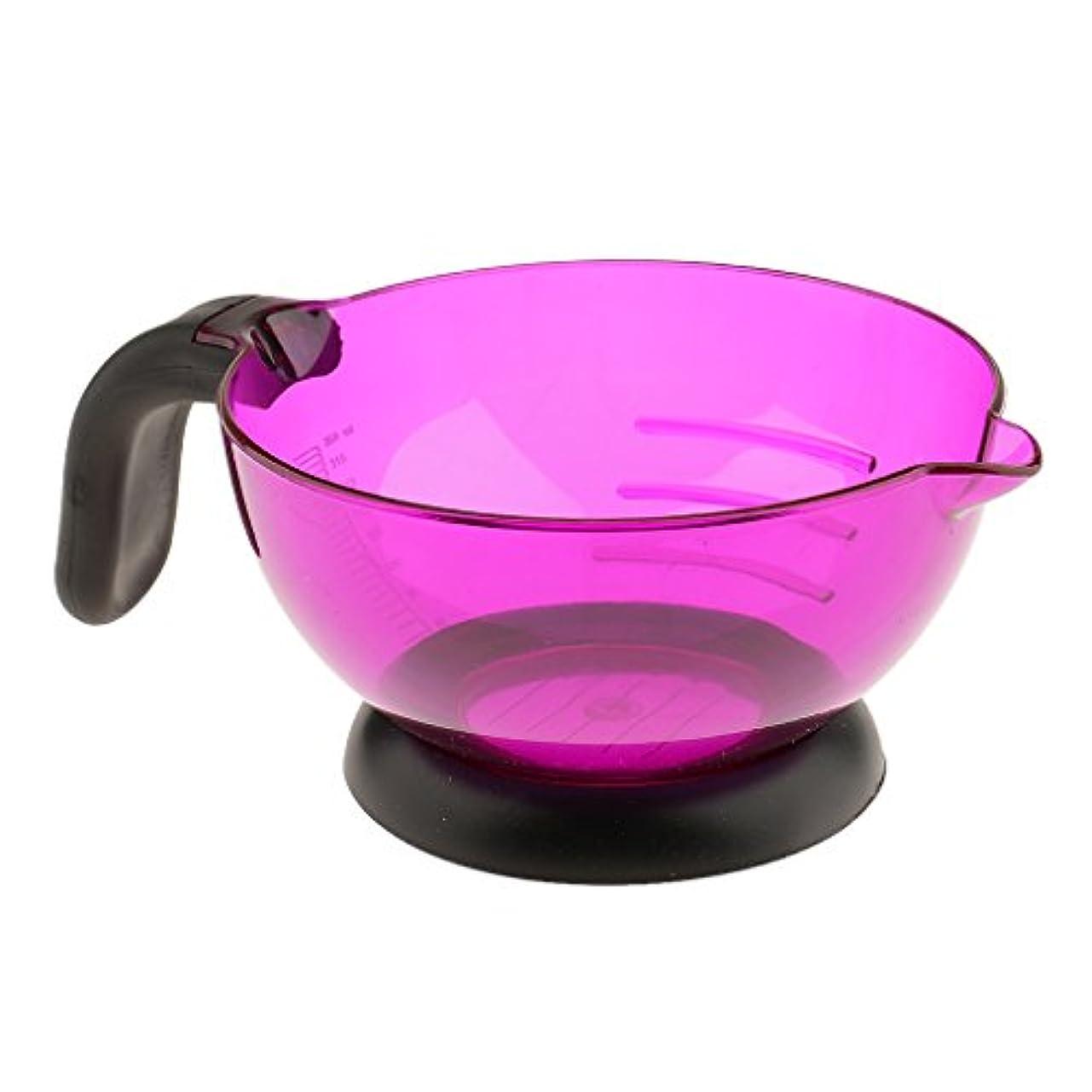 除去妖精グラムPerfeclan ヘアカラー 染め用具 美容室/サロン 染剤ボウル 調和用ボウル シリコン製 滑り止め 全3色 - 紫の