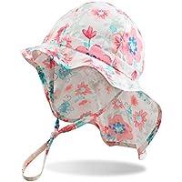 Duoyeree Baby Girls Sun-Hat with UPF 50+ Quick-Dry Toddler Kids Beach Cap Summer Outdoor Hat