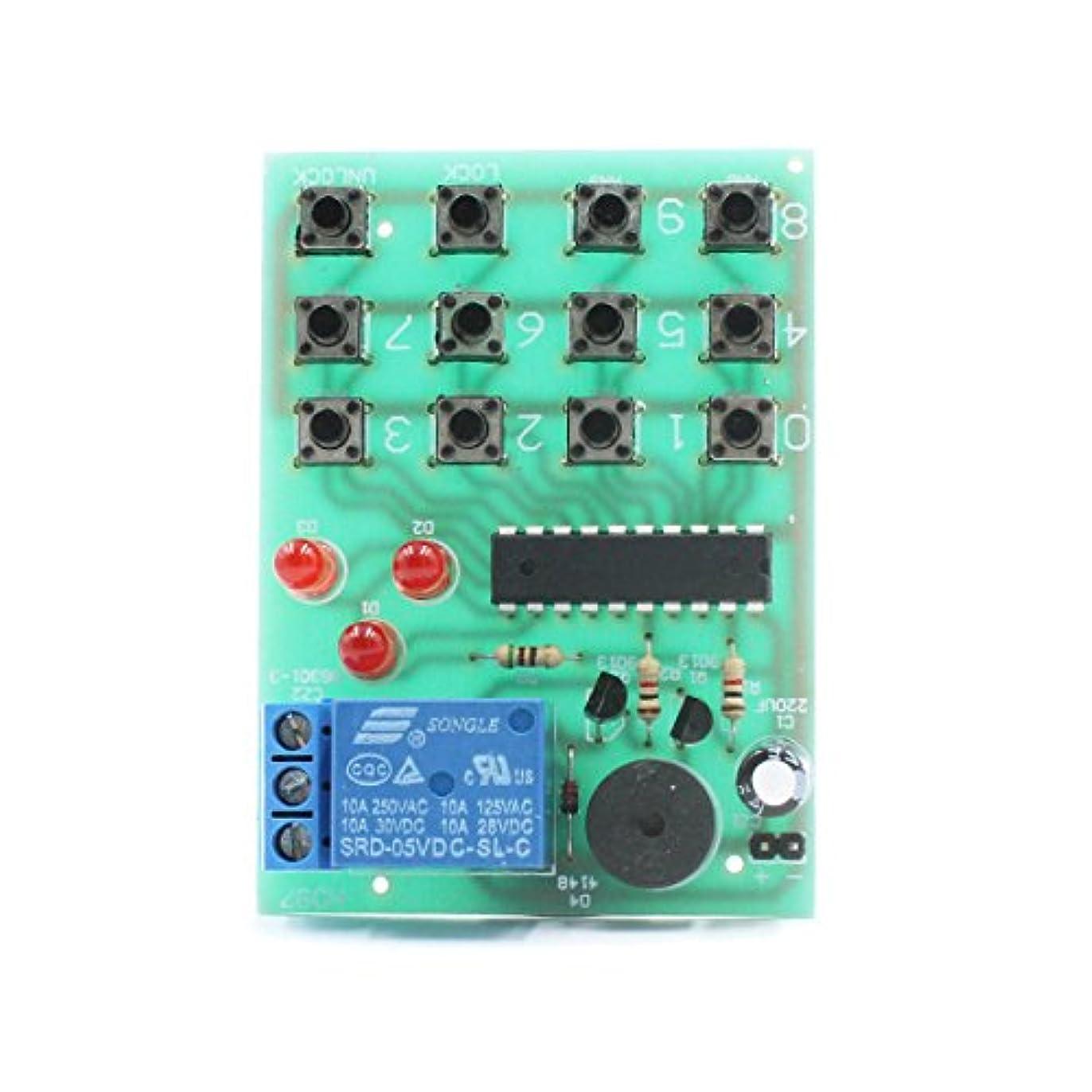 絶滅した集計吸収Arduino アクセサリー 電子パスワードロックモジュール - グリーン + ブラック