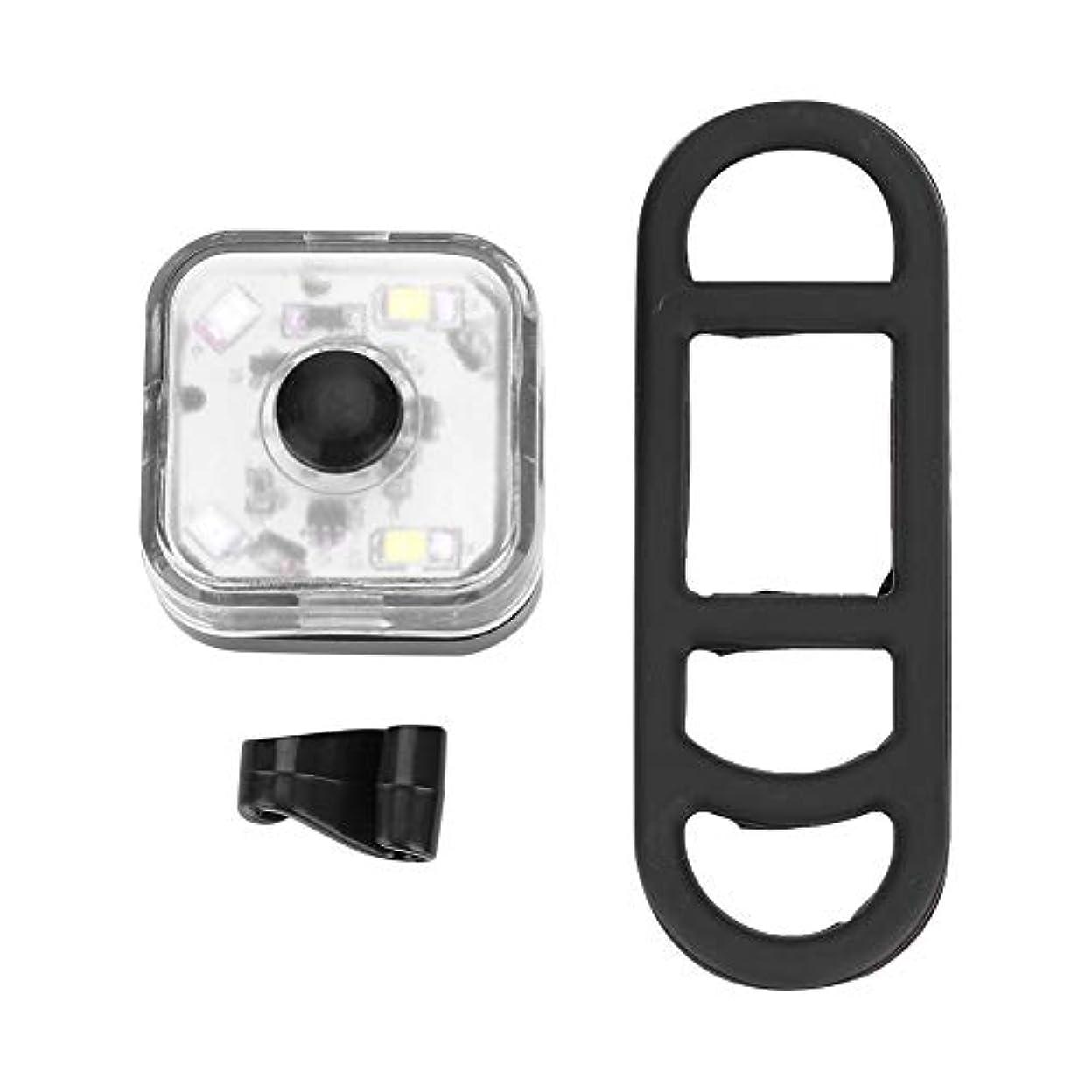 カセットオークランド二多用途 ミニLEDサイクリングフロントライトヘッドライトバイクテールライトリアライト3照明モードランニングウォーキングジョギングバックパック安全性警告懐中電灯超高視認夜間反射