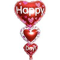 Shenguang バレンタイン風船 ハッピーデー I Love You ハート バルーン パーティー 記念日 飾り (1 HAPPY DAY)