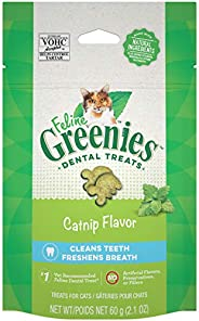 Greenies Feline Dental Cat Treat Catnip Flavour 60G Bag, One Size