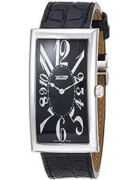 [ティソ] TISSOT 腕時計 ヘリテージ バナナ センテナリー クォーツ ブラック文字盤 ブラックレザー T1175091605200 メンズ 【正規輸入品】