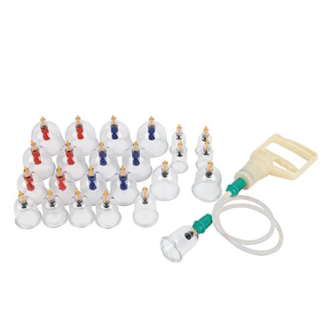 ヤギ化学薬品憲法カッピングセット、真空磁気ポンプのセルライトのカッピングマッサージが付いている専門の中国のマッサージのカッピングセットの吸引