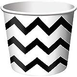 Chevron Stripe Treat Cups - Black (6) シェブロンストライプは、カップを扱う - ブラック(6)?ハロウィン?クリスマス?