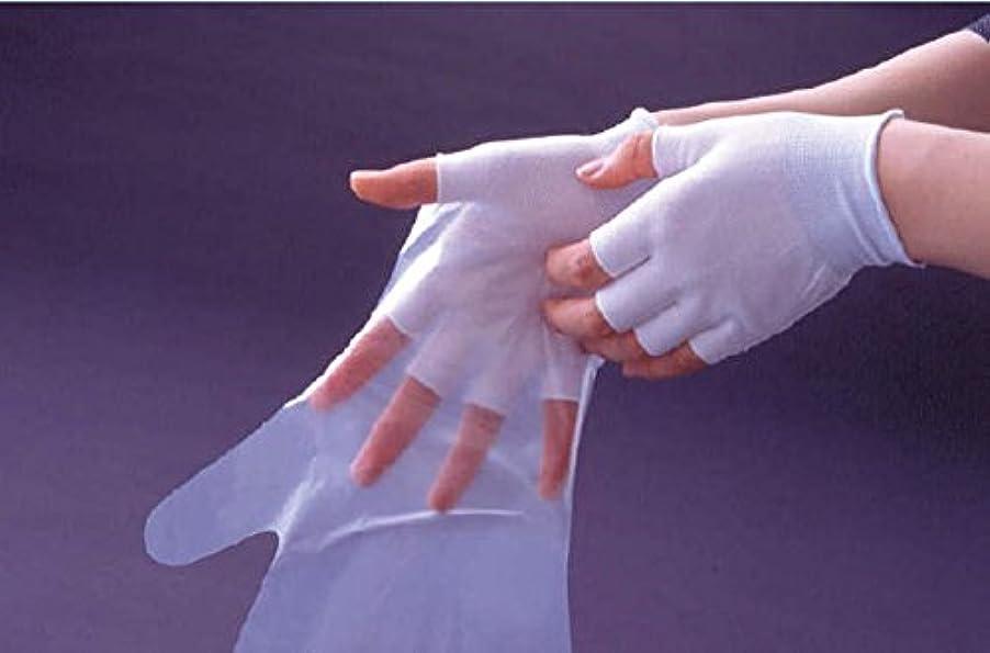 カラスマスク同行指切りインナー手袋 20枚入 B0950
