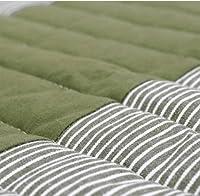 ラグ ヒッコリーパッチラグ 190×240cm 滑り止め 床暖房 丸洗い 軽量 (グリーン)