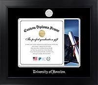 大学のhoustontm 11x 14マットブラック仕上げinfinity卒業証書フレームby Celebrationフレーム