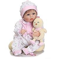 Decdeal 16in リボーンドール かわいい少女 人形 哺乳瓶付き 子供ギフト 友達