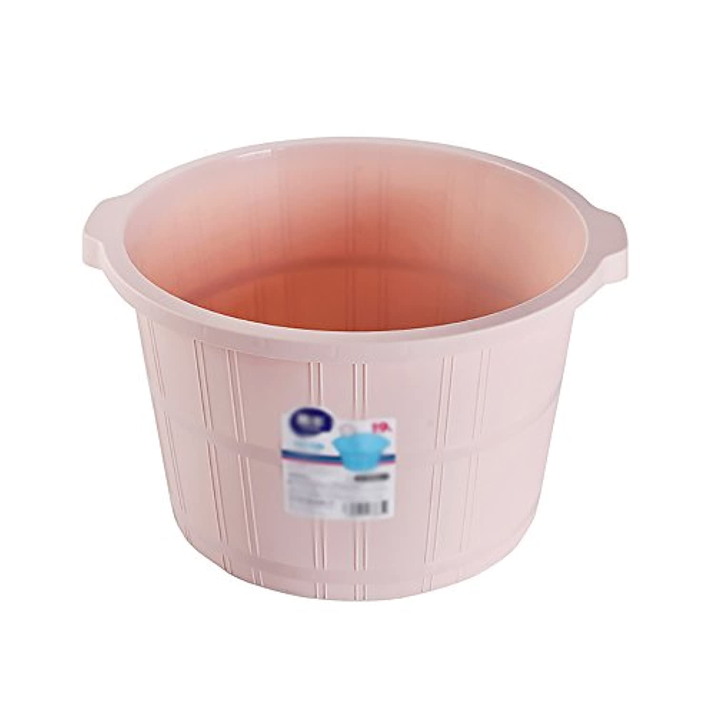 Super Kh® 足のマッサージの大型プラスチック足の浴槽家庭の足浴のバレルシンプルで便利な足の浴室浴室の足湯30 * 41 * 24センチメートル * (色 : Pink)
