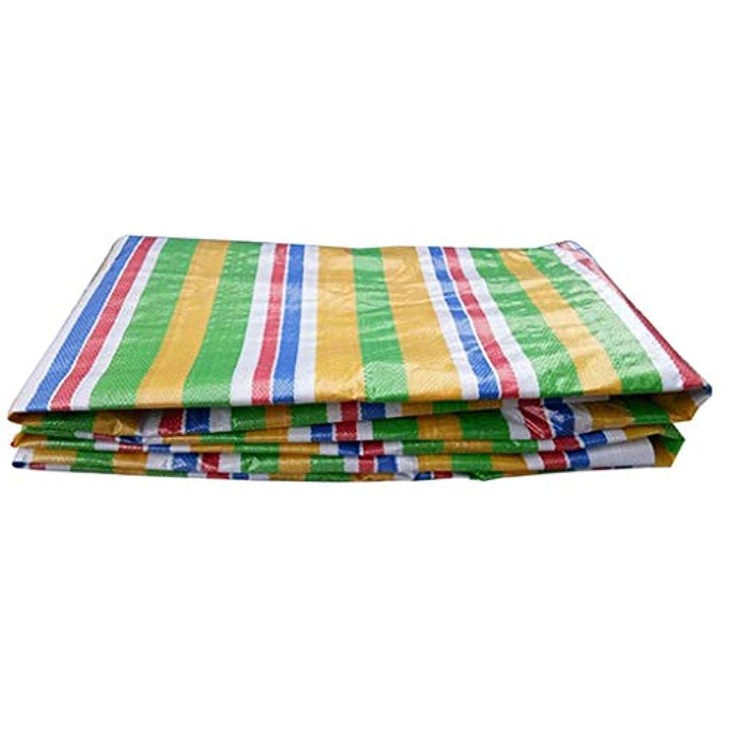 オセアニアオーラルアメリカ防水と雨よけ日焼け止め防水シート肥厚ストリップポンチョ透明5色花プラスチック家庭用シェード雨プラスチックキャンバス (Color : Multi-colored, Size : 6x15m)