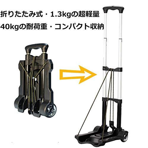 Hanako キャリーカート 折りたたみ 超軽量 コンパクト ハンドキャリー 超静音 固定ロープ付き 新生活 引っ越し 荷物運び 旅行用品 アウトドア