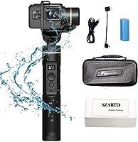 Feiyu 3軸ハンドヘルドジンバルg6stbilizer Splashproof更新OLEDスクリーン、360°角度、Splashproof、1/ 4穴カメラアクションカメラジンバルスタビライザーGoPro Hero 6/ 5/ 4/ 3/ Yiカム4K、AEE、RXO