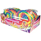 Universal Candy Sweetworld Swirl Lollipops 12 Pack, 12 x 200g