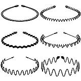 Lurrose 6Pcs Unisex Wavy Headband Metal Hair Hoop Ordinary Headwear Hair Accessories for Women and Men