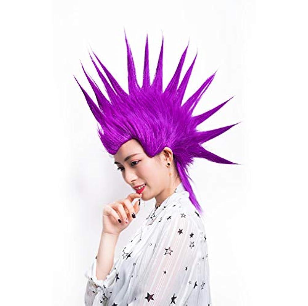 男性ウィッグ女性ウィッグハロウィンコスプレコスチュームアニメ大人&十代の若者たち短い人工毛仮装カーニバルパーティー