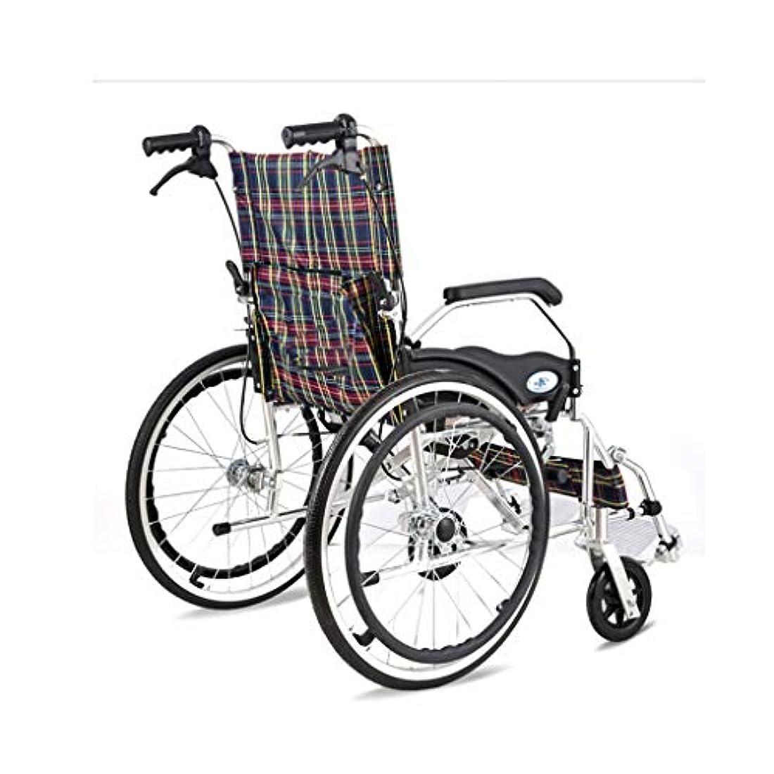 描写ぼんやりした塩辛い車椅子折りたたみ式インフレータブル後輪、四輪ブレーキ設計、高齢者および身体障害者用屋外トロリー