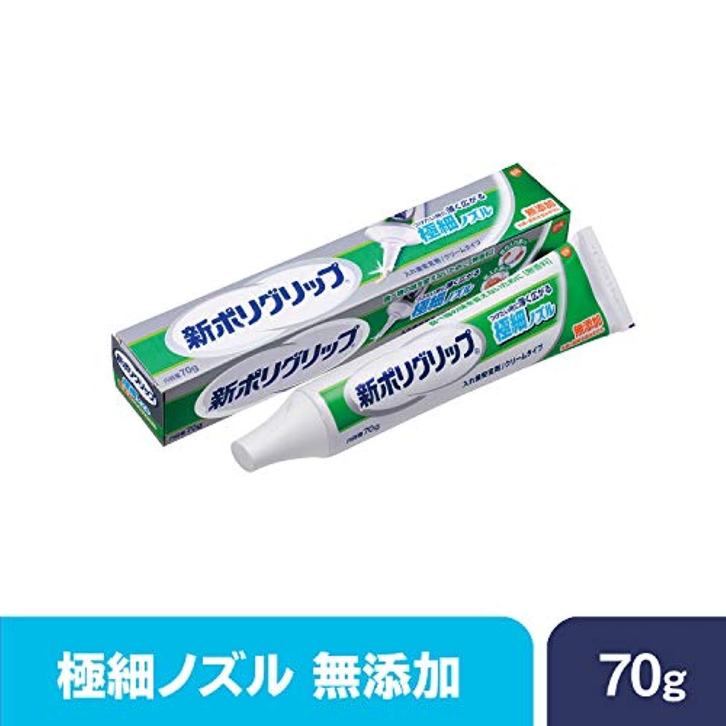 検査官シャトル乳白色部分?総入れ歯安定剤 新ポリグリップ極細ノズル 無添加 70g