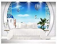 Bzbhart 壁のカスタム壁紙3D海の風景壁画3Dテレビの背景のリビングルームの装飾のための壁紙-300cmx210cm