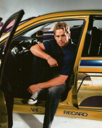 ブロマイド写真★『ワイルド・スピードX2』ポール・ウォーカー/CT9A ランサー・エボリューションⅦに乗るブライアン
