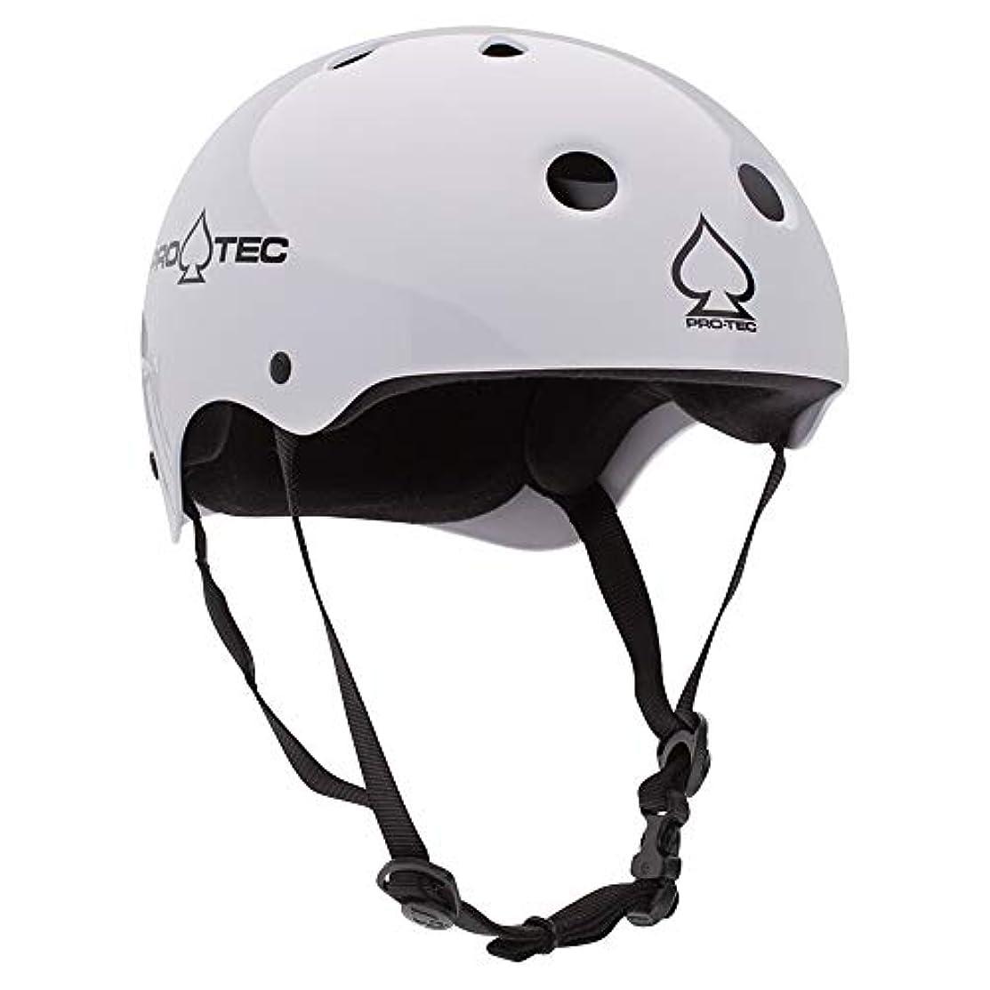 論理不快招待PRO-TEC(プロテック) CLASSIC SKATE (クラシック スケート)ヘルメット【正規輸入品】 - Mサイズ - GLOSS WHITE (グロス ホワイト) 1212302 ホワイト M