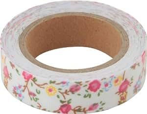 不二貿易 ファブリックテープ (布製マスキングテープ) 花柄 Hタイプ 13106