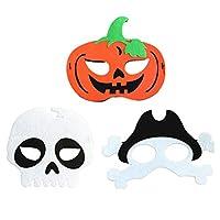 TOYANDONA 3個ハロウィンマスク頭蓋骨カボチャ海賊マスクパーティーの好意は衣装を着せ替え