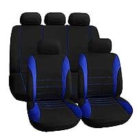 Tivollyff 車のカバーユニバーサルカーシートカバーフルシートクロスオーバー自動車インテリアアクセサリーカバーフルカーケア用 青