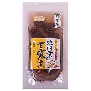 熊本県産の大粒の栗だけを使用した 渋皮付栗甘露煮 パウチ袋 450g(固形200g)