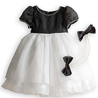 (キャサリンコテージ)Catherine Cottage 子供ドレス ブラックオーガンディードレス CC0009 110cm ブラック CC0009