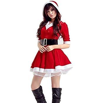fb347ec07482f クリスマス コスプレ コスチューム 衣装 サンタ コスチューム レディース コスプレ クリスマスサンタ サンタクロース 可愛い 3点セット リボン