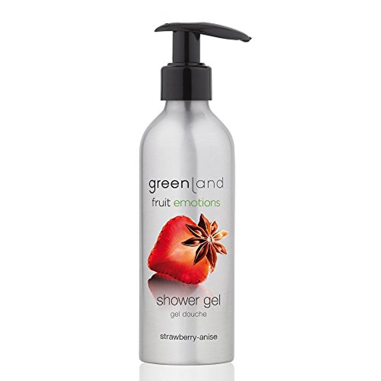 里親簡潔な滅びるgreenland [FruitEmotions] シャワージェル 200ml ストロベリー&アニス FE0217