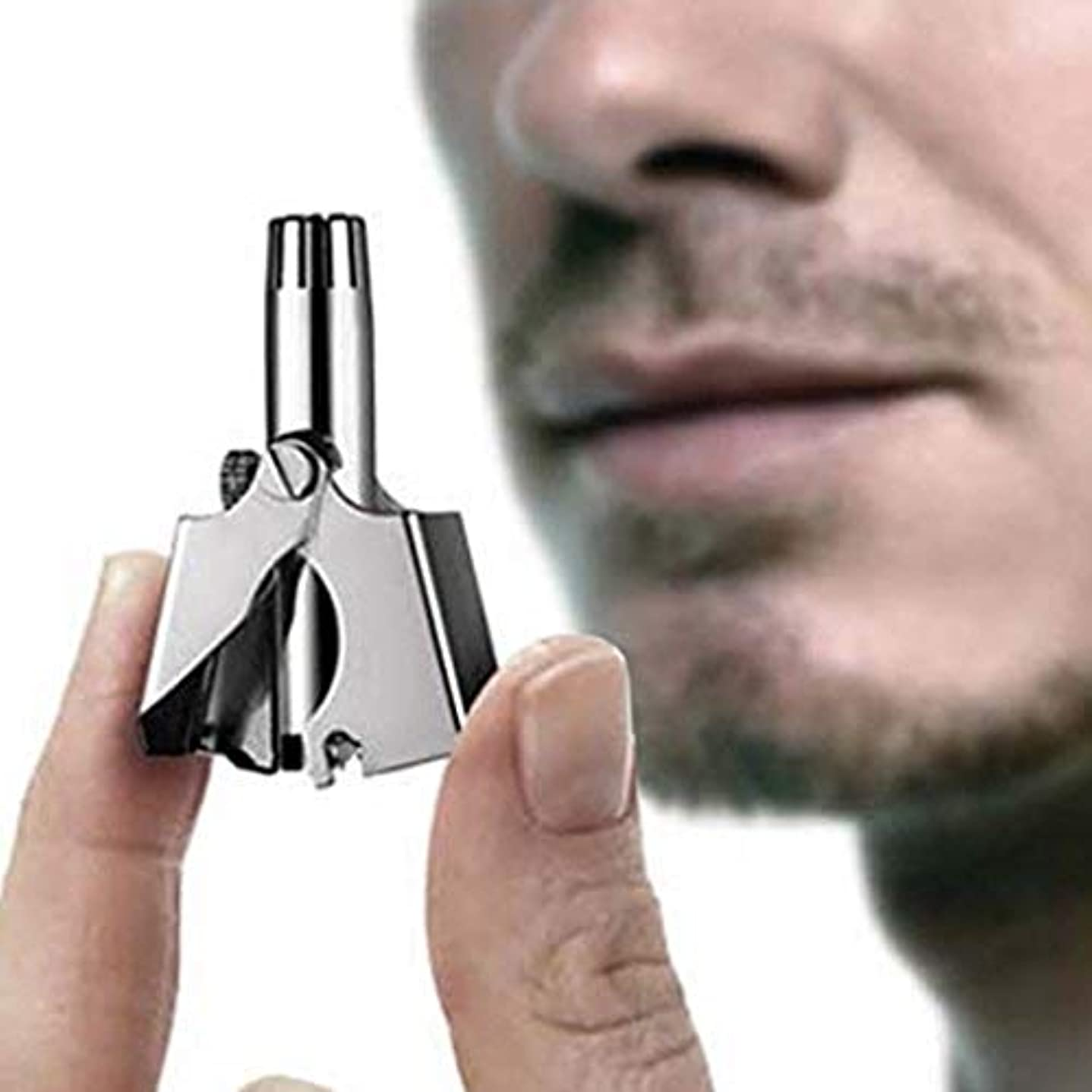 誰でもとにかく生じる男性と女性、314のステンレス鋼の耳鼻毛はさみ、プロフェッショナルポータブル、必要ないいえ電池用マニュアル鼻hairlトリマークリッパー
