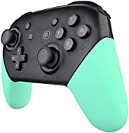 eXtremeRate Mint Green Replacement Handle Grips for Nintendo Switch Pro Controller, Soft Touch DIY Hand Grip S