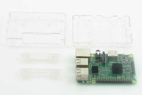 Raspberry Pi3 Model B ボード&ケースセット 3ple Decker対応 (Element14版, Clear)-Physical Computing Lab
