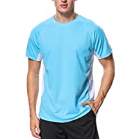 beautyin Men's UPF 50+ Rashguard Swim Tee Short Sleeve Quick-Dry Swimwear Top