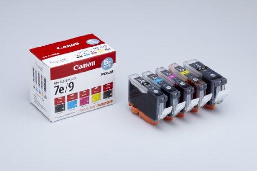 Canon 純正インクカートリッジ BCI-7e(BK/C/M/Y)+BCI-9BK 5色マルチパック BCI-7E+9BK/5MP