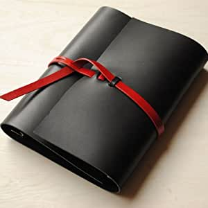 KAKURA semicolon A5システム手帳urushiブラック ブラック/レッド A5サイズ