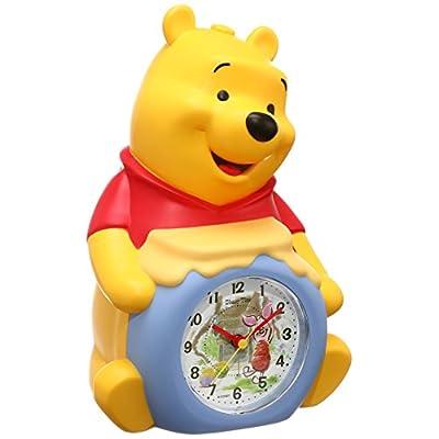 セイコー クロック 目覚まし時計 くまのプーさん キャラクター型 アナログ おしゃべり アラーム Disney Time ディズニータイム FD463A SEIKO