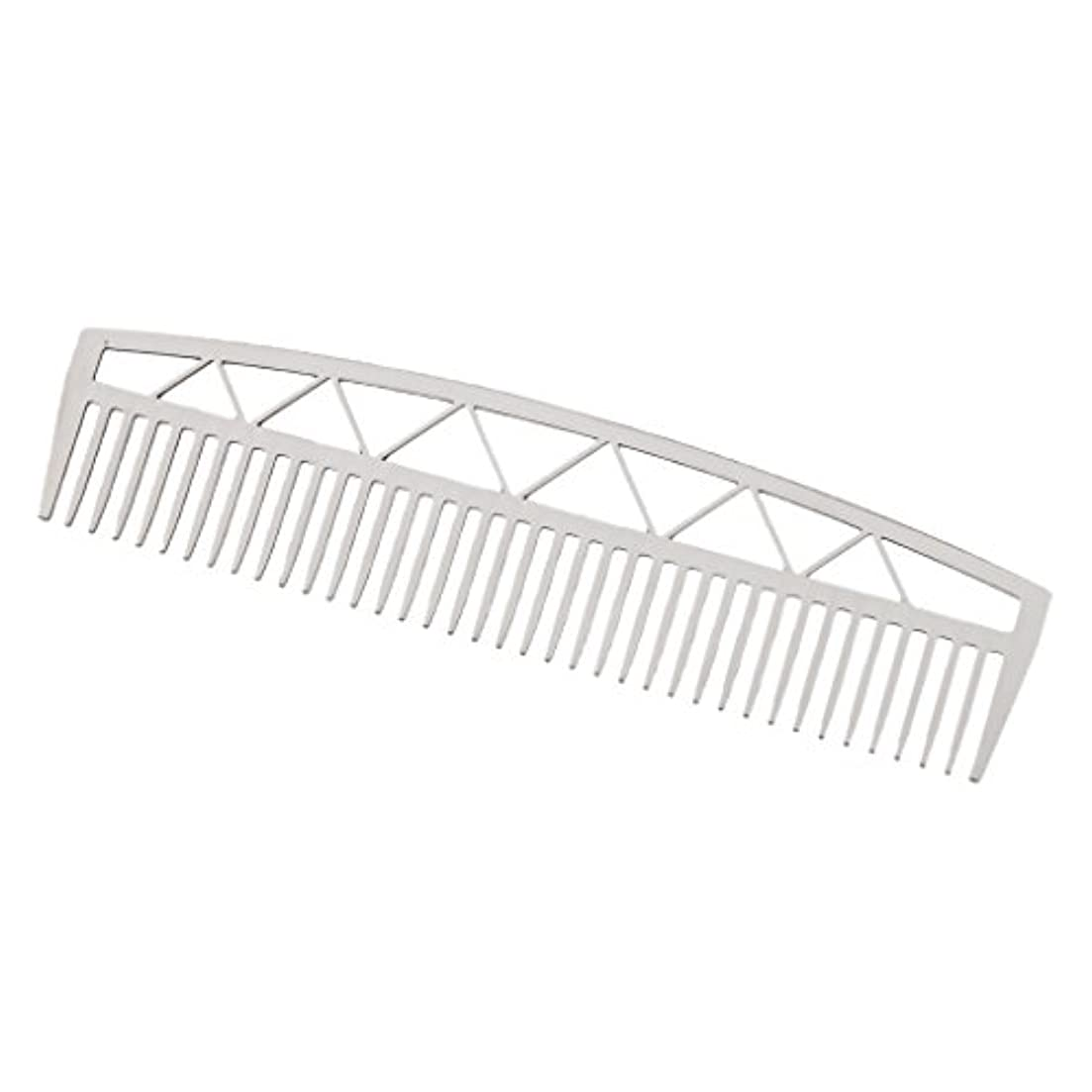 効率的に幅アカデミービアードコーム ヘアコーム ステンレス鋼 ひげ櫛 2タイプ - #2