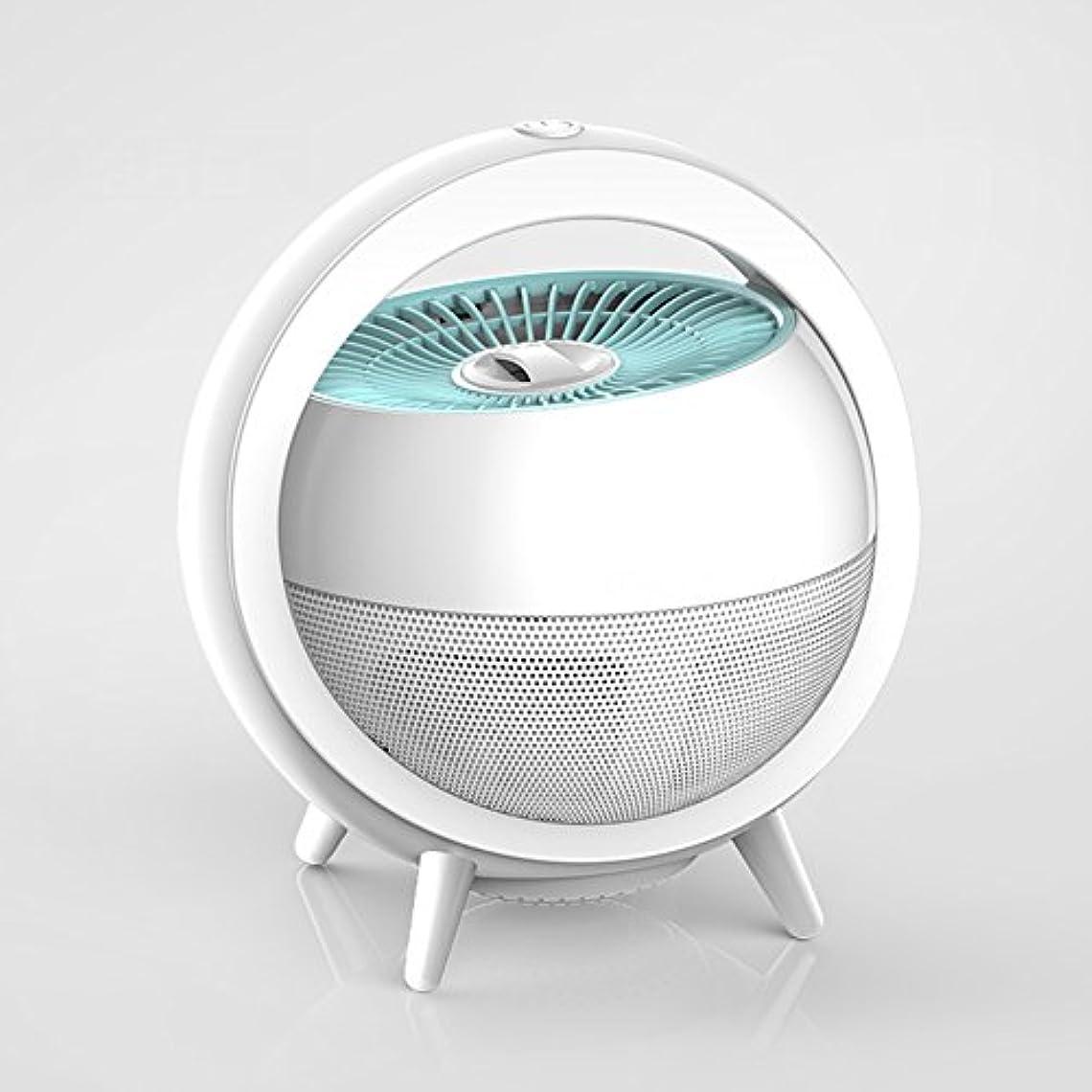 強化する不可能な失LIXIONG 蚊ランプ 吸入タイプ UVA紫色光 ルアー蚊 インドア プラグインタイプ 低ノイズ 放射線のない 完全自動、 5色、 17×20cm (色 : 白)