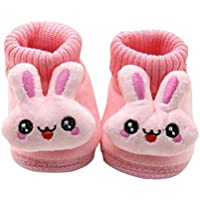 LAVO'S Baby Boy Girl Boots Soft Bottom Anti-Slip Winter Warm Shoes Bootie (12~18M Pink)