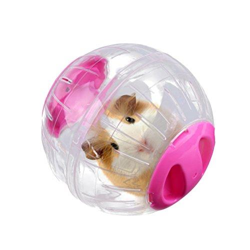UEETEK ランナーボール ハムスター ハムスターボール ハムスター チンチラ ハリネズミ 運動器具 小動物 おもちゃ (ピンク)