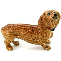 3 D Ceramic Toy Brown Dachshund Dog size M1 Dollhouse Miniatures Free Ship by ChangThai Design [並行輸入品]