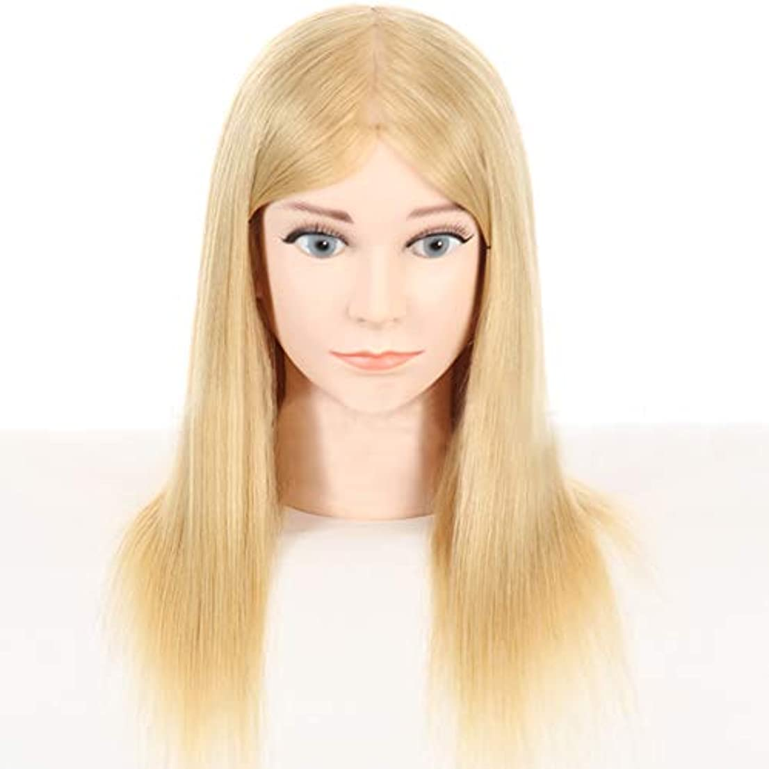 曖昧な競争お金本物の人間の髪のかつらの頭の金型の理髪の髪型のスタイリングマネキンの頭の理髪店の練習の練習ダミーヘッド