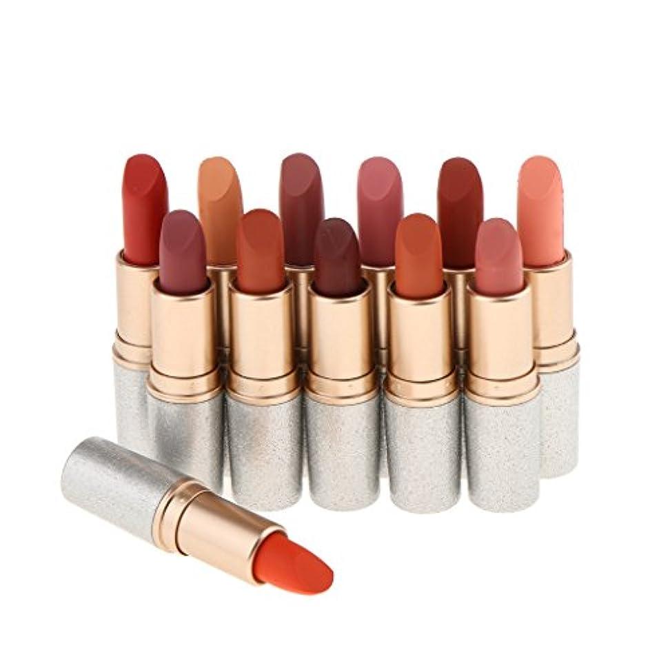 メンダシティ熱心な最初ベルベットマット 口紅 マット リップスティック 化粧品 12色