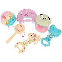 B Baosity 6個入り 子ども 幼児 ラトルおもちゃ ハンドルラトル